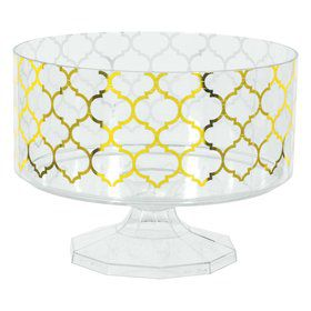 Gold Quatrefoil Small Trifle Bowl
