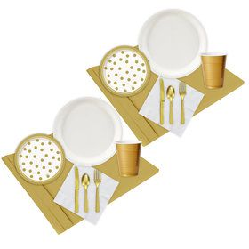 Gold White Party Pack (48)