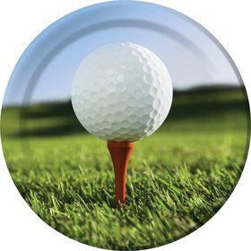 "Golf 9"" Luncheon Plates (8 Pack)"