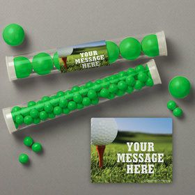 Golf Personalized Candy Tubes (12 Count)