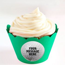 Golf Personalized Cupcake Wrappers (Set of 24)