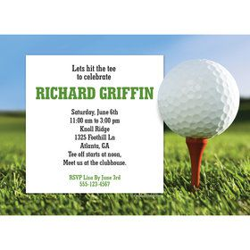 Golf Personalized Invitation (Each)