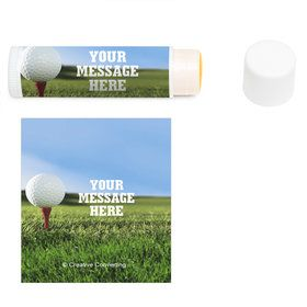 Golf Personalized Lip Balm (12 Pack)