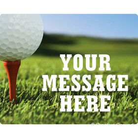 Golf Personalized Rectangular Stickers (Sheet of 15)