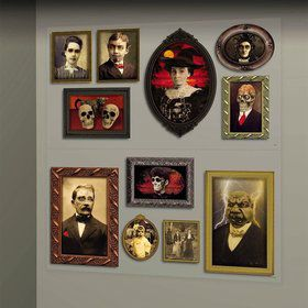 Gothic Mansion Portrait Wall Scene Setter