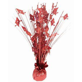 """Grad Cap Red Holographic 15"""" Table Centerpiece"""