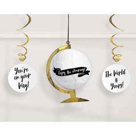 Grad Globe Honeycomb Hanging Decorations