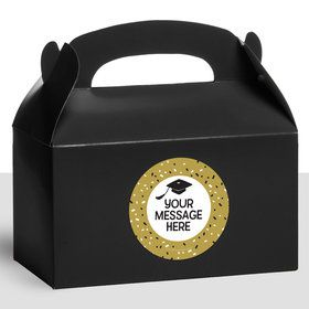 Grad Hats Off Personalized Treat Favor Boxes (12 Count)
