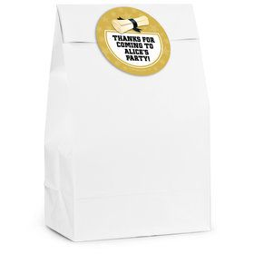Grad Lemon Yellow Personalized Favor Bag (12 Pack)