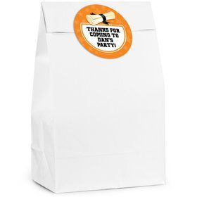 Grad Orange Personalized Favor Bag (12 Pack)