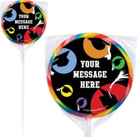 Grad Party Personalized Lollipops (12 Pack)