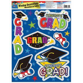 Grad Removable Window Clings (6pcs)