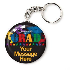 "Grad Spirit Personalized 2.25"" Key Chain (Each)"