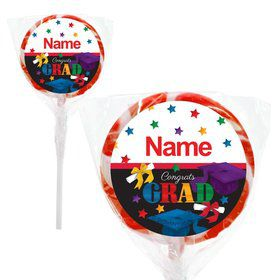 "Grad Spirit Personalized 2"" Lollipops (20 Pack)"