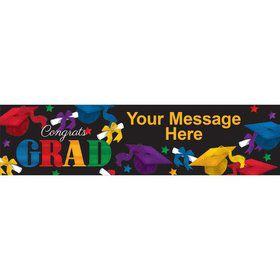 Grad Spirit Personalized Banner (Each)