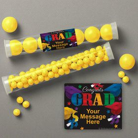 Grad Spirit Personalized Candy Tubes (12 Count)