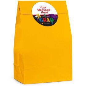 Grad Spirit Personalized Favor Bag (12 Pack)