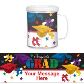 Grad Spirit Personalized Favor Mug (Each)