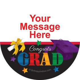 Grad Spirit Personalized Stickers (Sheet of 12)