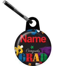 Grad Spirit Personalized Zipper Pull (Each)