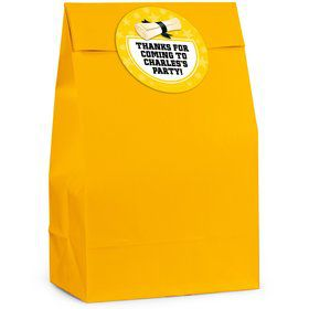 Grad Yellow Personalized Favor Bag (12 Pack)