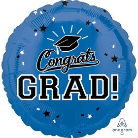 "Graduation 18"" Foil Balloon Blue (1)"
