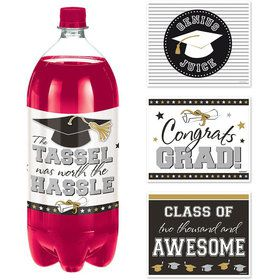 Graduation 2-Liter Bottle Labels (4 Pack)