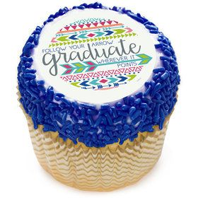 "Graduation Arrow 2"" Edible Cupcake Topper (12 Images)"