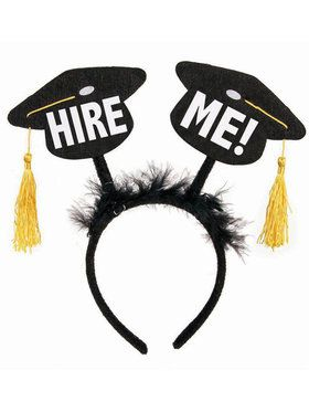 "Graduation Bopper Headband ""Hire Me"""