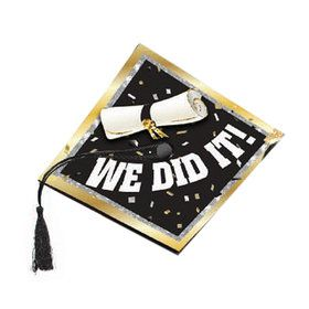 "Graduation Cap Cover ""We Did It"""