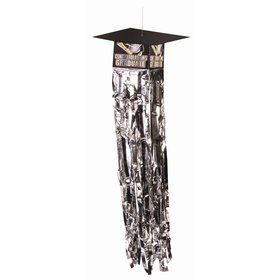 Graduation Cap Dangling Tinsel Decoration