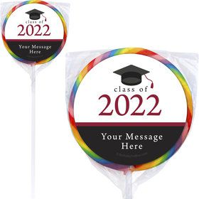 "Graduation Day Burgundy Personalized 3"" Lollipops (12 Pack)"