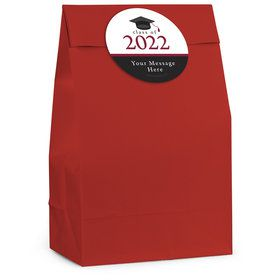 Graduation Day Burgundy Personalized Favor Bag (12 Pack)