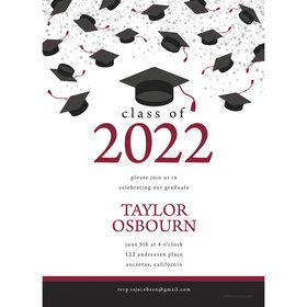Graduation Day Burgundy Personalized Invitation (Each)