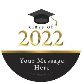 Graduation Day Gold Personalized Stickers (Sheet of 12)