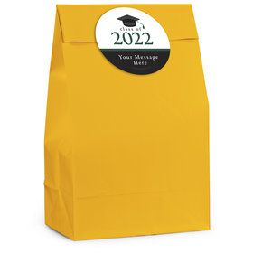 Graduation Day Green Personalized Favor Bag (12 Pack)