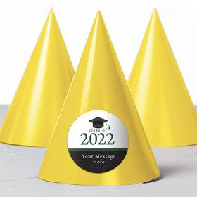 Graduation Day Green Personalized Party Hats (8 Count)