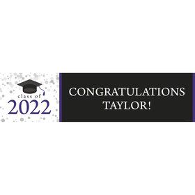 Graduation Day Purple Personalized Banner (Each)