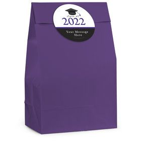 Graduation Day Purple Personalized Favor Bag (12 Pack)