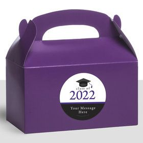 Graduation Day Purple Personalized Treat Favor Boxes (12 Count)