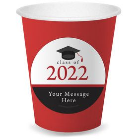 Graduation Day Red Personalized Cups (8)