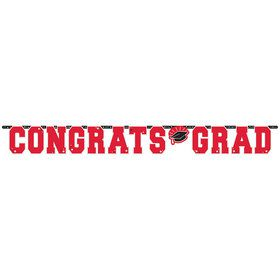 Graduation Giant 10 Foot Letter Banner Red