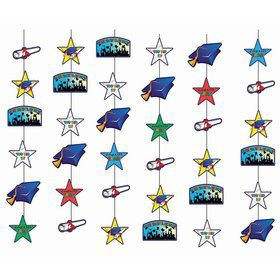 Graduation Icon Hanging Decorations (6pcs)