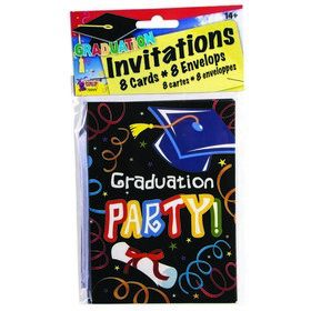 Graduation Invitations & Envelopes (8 each)