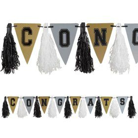 Graduation Metallic Tassel 10ft. Garland Decoration (Each)