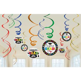 Graduation Swirl Value Pack 12 Pieces