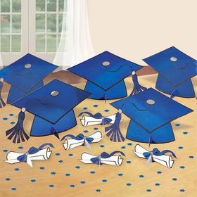 Graduation Table Blue Decorating Kit (Each)