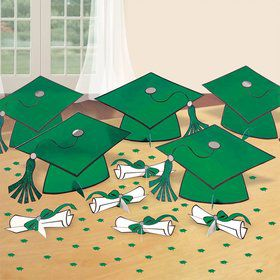 Graduation Table Green Decorating Kit (Each)