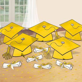 Graduation Table Yellow Decorating Kit (Each)