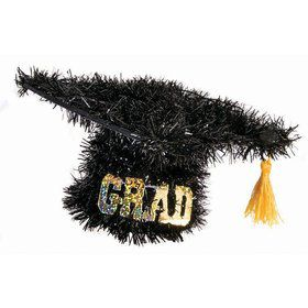 Graduation Tinsel Hat Decoration